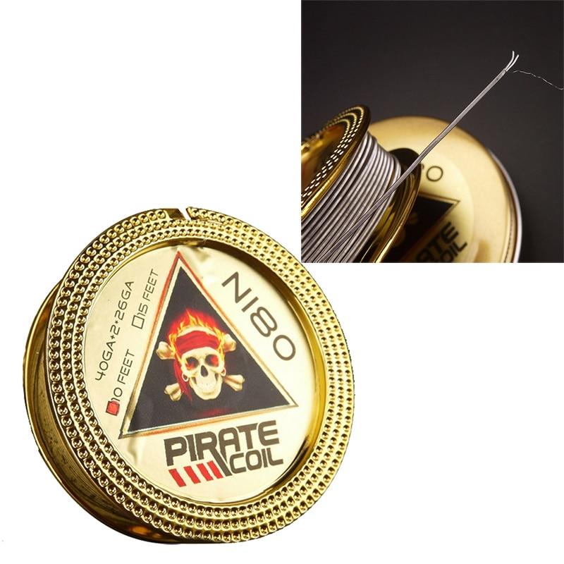 PIRATE COIL Fashion Accessories Ni80 Heating Wire Pirate 2 Core Clapton Fancy Heating Wire For Electronic Cigarette 3m 40GA+2*26