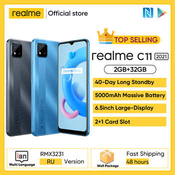 "[World Premiere In Stock] realme C11 2021 NFC Global Russian Version 2GB RAM 32GB ROM 6.5"" HD+ 5000mAh Long-Lasting Battery 1"