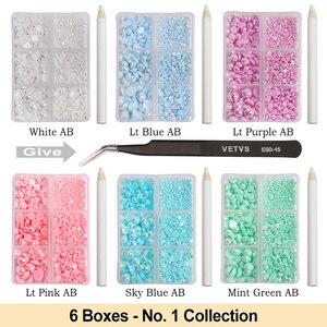 Image 4 - Contas de pérolas para fazer jóias, 1000 pçs/saco coloridas redondas, meia pérola, para fazer jóias, costura, plástico abs, pérola beads2mm/3mm/4mm/5mm/6mm/8mm