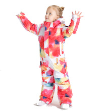 Детский цельный лыжный костюм водонепроницаемый утепленный ветрозащитный лыжный костюм для девочек и мальчиков Теплый, 110 до 160 см