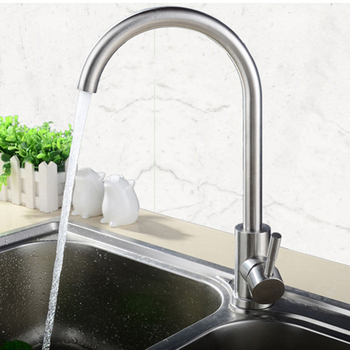 цена на Kitchen Bathroom Faucets Stainless Steel Kitchen Mixer Single Handle Single Hole Mixer Sink Tap Hot and Cold Washing vegetables