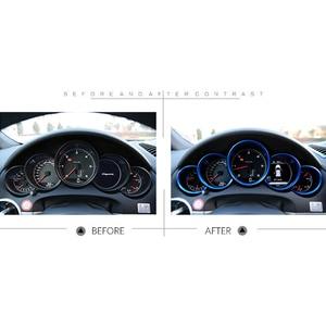Image 5 - Araba iç aksesuarları araba Dashboard sayacı halka için Trim kapakları Porsche Cayenne 958 2011 2018