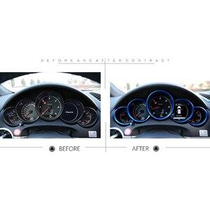 Image 5 - Auto Innen Zubehör Auto Dashboard Meter Ring Abdeckungen Trim Für Porsche Cayenne 958 2011 2018