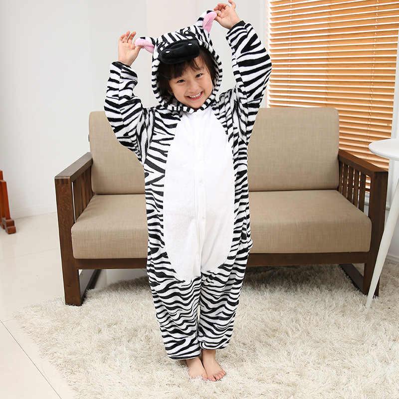 בנות תפר דוב Onesies ילדים ילדי Unicorn פיג 'מה Kigurumi קריקטורה בעלי החיים Licorne סרבל תינוקות Sleepwears בני ליל כל הקדושים תלבושות
