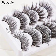 5 Pairs Natural 3D Mink Hair False Reusable Eyelashes Fashion Thick Long Eye Lashes Wispy Makeup Beauty Extension Tool for Momen 5 pairs 3d mink hair false eyelashes natural thick long eye lashes fluffy wispy eye makeup beauty soft eyelash extension tools