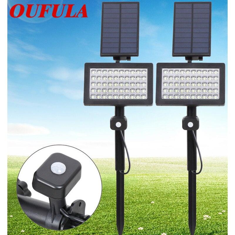 Oufula Solar Gazon Licht Led Sensor Licht Overstroming Licht Outdoor Waterdichte Tuin Tuin Licht