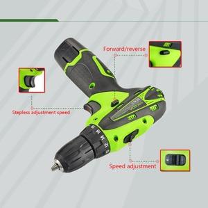 Image 4 - Электрическая отвертка YIKODA, многофункциональный аккумуляторный электроинструмент с литиевым аккумулятором 12 В