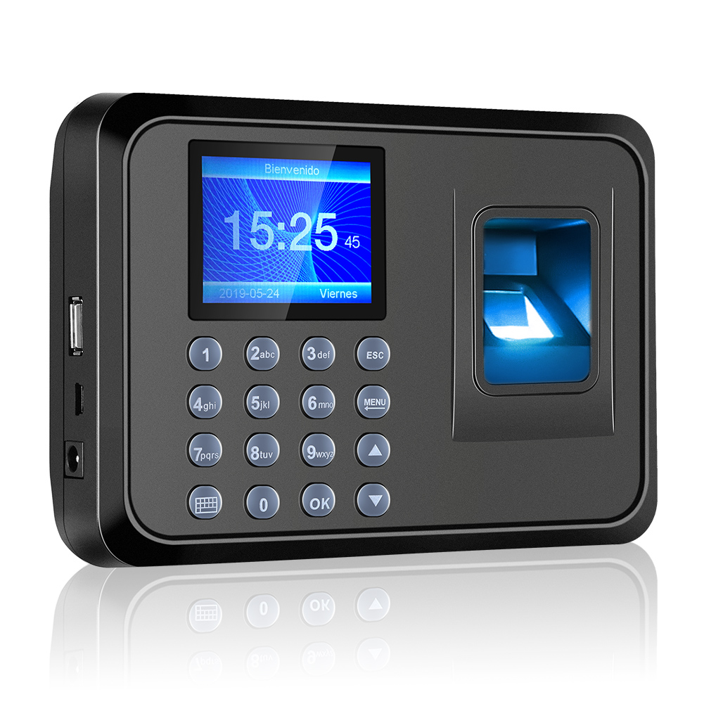 Biometric Fingerprint Password Attendance Machine Multi-language With 2.4 Inch LCD Screen Employee Management Time Clock