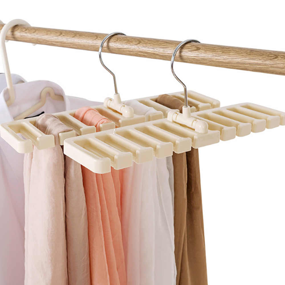 10 Grid Storage Rack Tie Belt Organizer Space Saver Rotating Scarf Ties Hanger Holder Hook Closet Organization Tops Bra Belt Ba