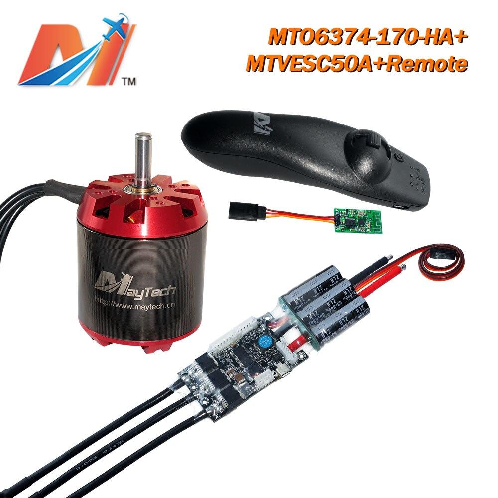 Moteur de planche à roulettes électrique Maytech 6374 170KV + SuperESC basé sur VESC 50A ESC + télécommande (3 pièces)