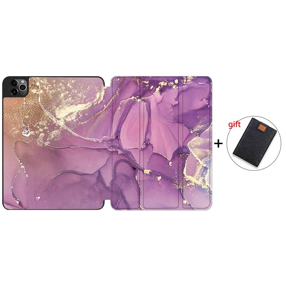 IPTPU09 Beige MTT 2020 Tablet Case For iPad Pro 12 9 4th Gen A2229 A2233 Soft TPU PU