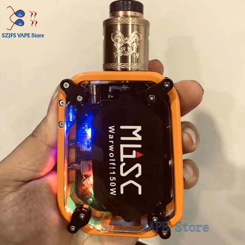 E-cigarettes 150W Vape Kit Huge Smoke 3500mAh Battery Vaporizer Steam Tank 0.91 Inch OLED Screen Box Mod Kit Vs Dead Rabbit Drop