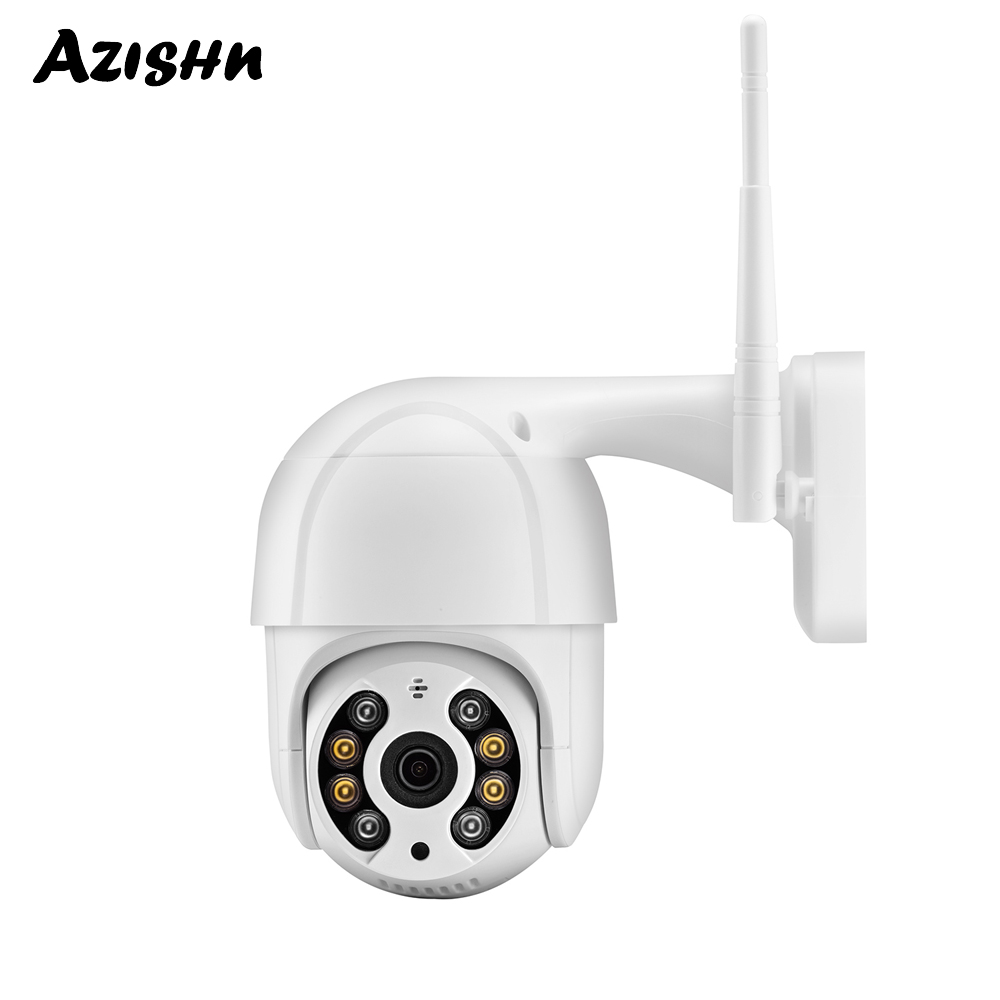 AZISHN 1080P PTZ Wireless IP Camera 4X Digital Zoom Speed Dome Two Way Audio Outdoor Waterproof WiFi CCTV Cam AI Human Detection