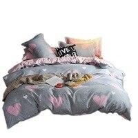 Einfache Gebürstet Aloe Baumwolle Vier stück Polyester Student Schlafsaal Drei Vier stück Bettlaken Quilt Abdeckung Geschenk Bettwäsche kissenbezug Bettbezug    -