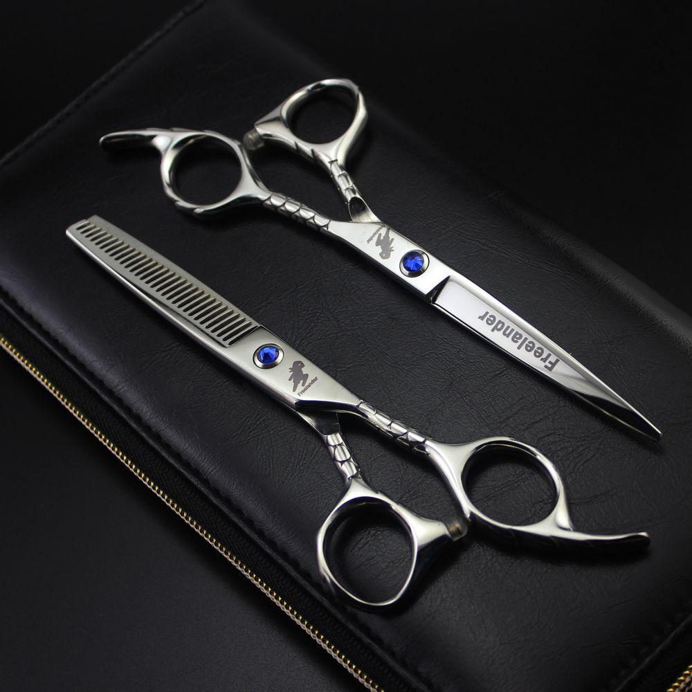 Freelander Hair Scissors Sets 6 Inch 440C Stainless Steel Professional Salon Barbers Cutting Scissor Hairdressing