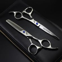 Freelander Hair Scissors Sets 6 Inch 440C Stainless Steel Professional Salon Barbers Cutting Scissor Hairdressing