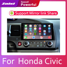 цена на ZaiXi Car Android System 1080P IPS LCD Screen For  Honda Civic 2006~2011 Car Radio Player GPS Navigation BT WiFi AUX