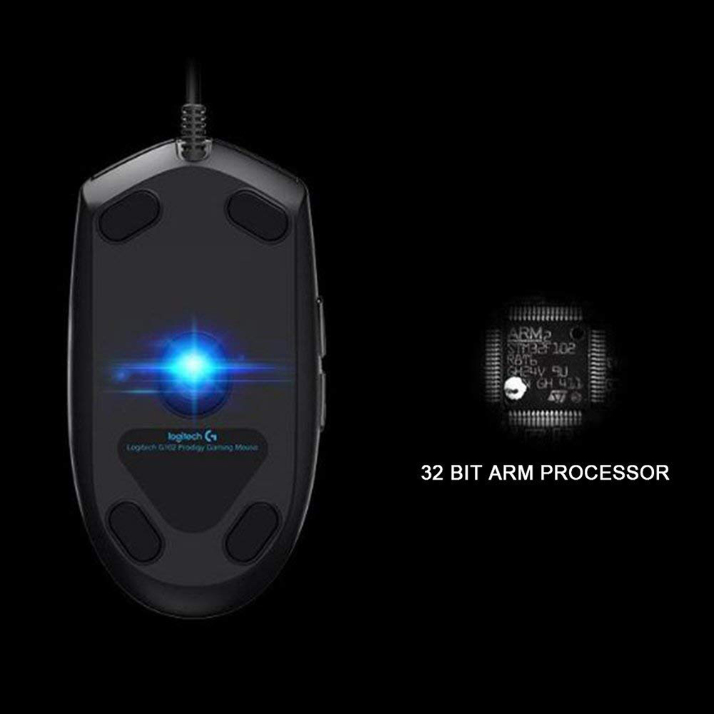 Image 4 - Original Logitech G102 IC PRODIGY/LIGHTSYNC Gaming Mouse Optical 8000DPI 16.8M Color LED Customizing 6 Buttons WiredMice   - AliExpress