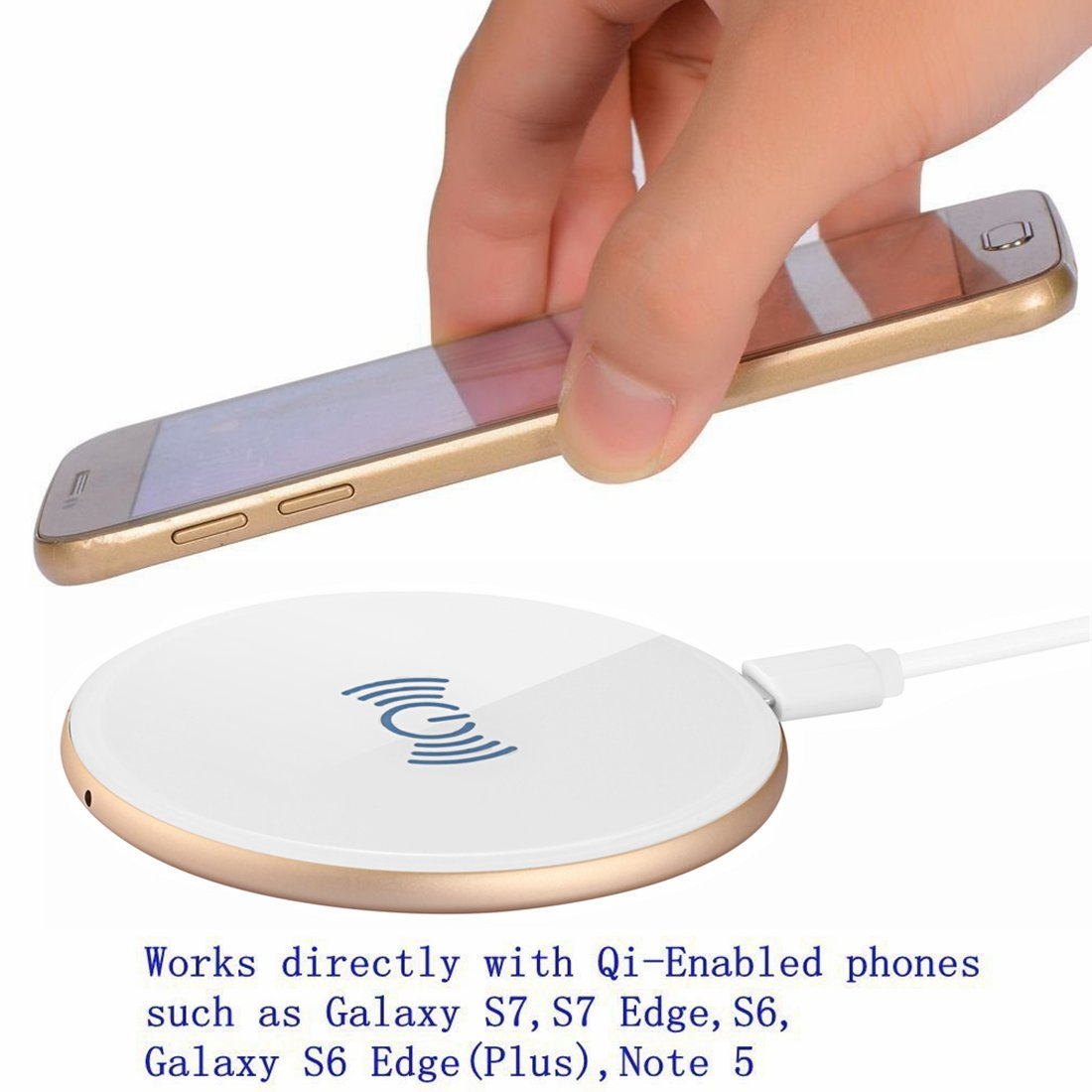 Wireless Charger Ultra Slim Sleep Friendly Wireless Charging Pad for iPhone and All Qi Enabled Smartphones in Wireless Chargers from Cellphones Telecommunications