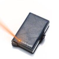 Модный мужской карт-Холдер  кошелек  два слоя  мужской банковский держатель для карт  RFID маленький кошелек для мужчин  короткий кошелек  авто...