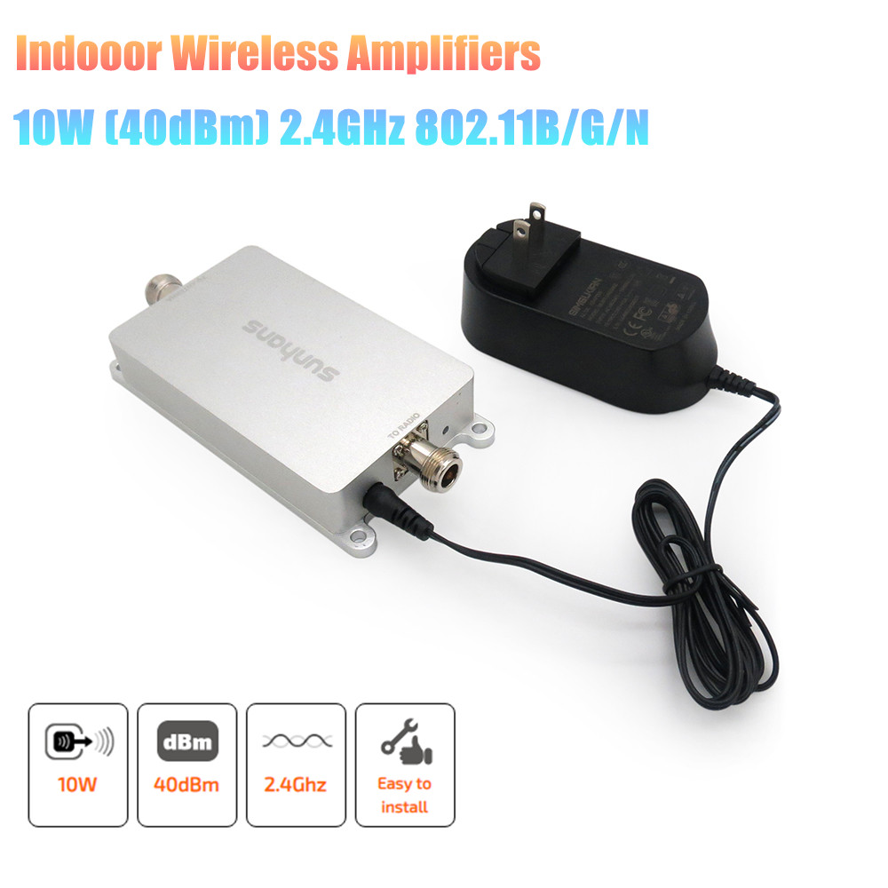 Original SUNHANS SH24Gi10W WiFi Signal Booster  10W 40dBm Indoor 2.4GHz 11/b/g/n WiFi Signal Ampifier High Power WiFi Amplifier