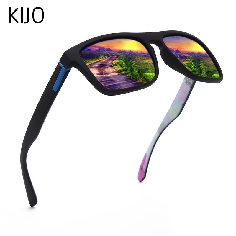 Men Polarized Sunglasses Retro UV Protection Driver Black Goggles Glasses Rectangular Shadow