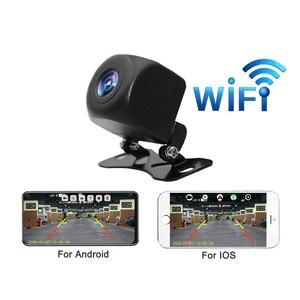 Câmera de visão traseira do carro Wifi profissional Câmera de visão traseira HD BackUp Câmera frontal / traseira do carro Suporte para Android e Ios