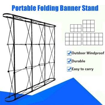 4 größen Tragbare Falten Banner Ständer Hochzeit Party Wand Rahmen Hintergrund Display Präsentation Werbung Rack Ständer Halter