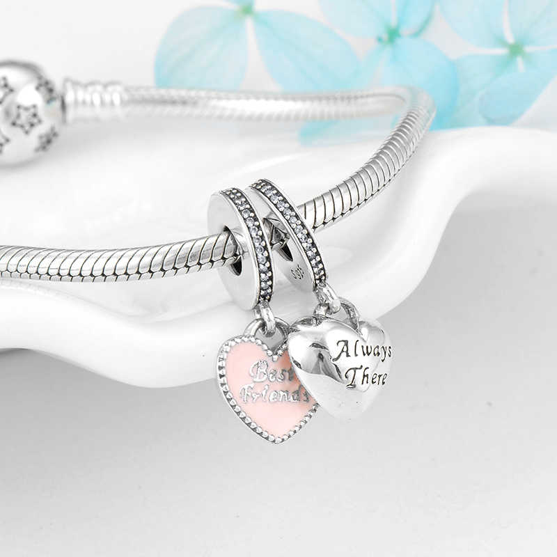 925 Sterling Silver Heart Best Friend