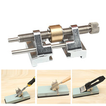 цена на Stainless Steel Chisel Sharpener Side Clamping Fixed Angle Honing Guide Tool For Wood Chisel Planer Blade Flat Chisel Edge
