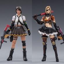 Joytoy 1/18 cf figura de ação zero e kui feminino soldado no jogo cross fire (cf) figuras do sexo feminino anime