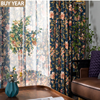 Modern Curtains for Living Dining Bedroom American pastoral Garden Curtains Polyester-cotton Printed Curtains Blackout  Curtains