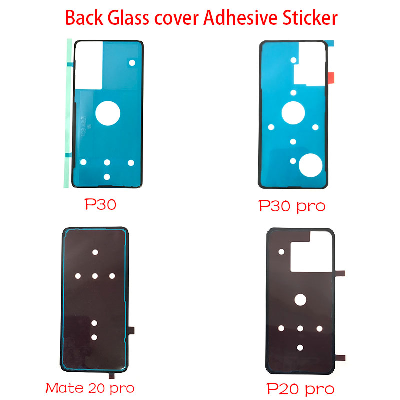 2pcs/lot For Huawei P20 Mate 20 Pro Back Battery Cover Door Sticker Adhesive Glue Tape