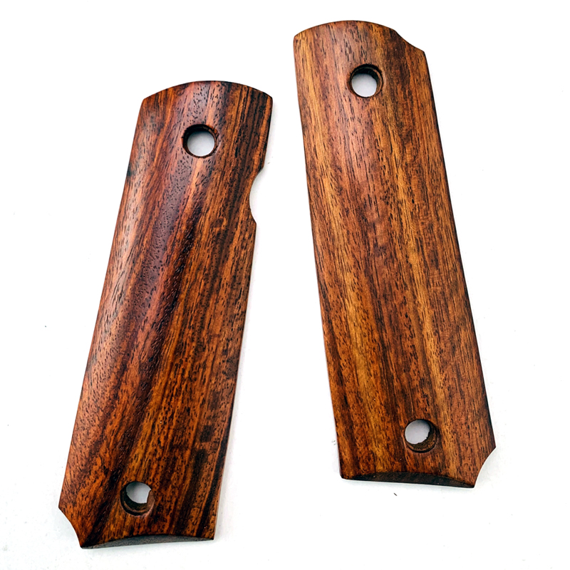 2Pieces 1911 Grips Zambia Red Sandalwood Handle Grips Patch Custom Grips CNC Handle Grips