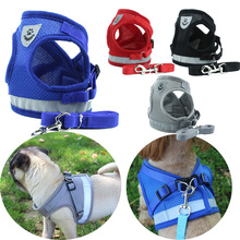 Reflective Safety Pet Dog Harness and Leash Set for Small Medium Dogs Cat Harnesses Vest Puppy Chest Strap Pug Chihuahua Bulldog breathable small dog pet harness and leash set puppy cat vest harness collar for small medium dogs cute safety pet chest straps
