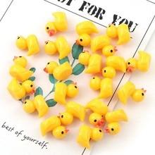 Cute miniature Figurine ornaments for home yellow ducklings Figurine miniature for fairy