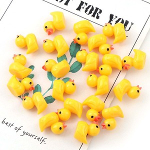 Cute miniature Figurine ornaments for home yellow ducklings Figurine miniature for fairy garden Easter decor Slime Charms