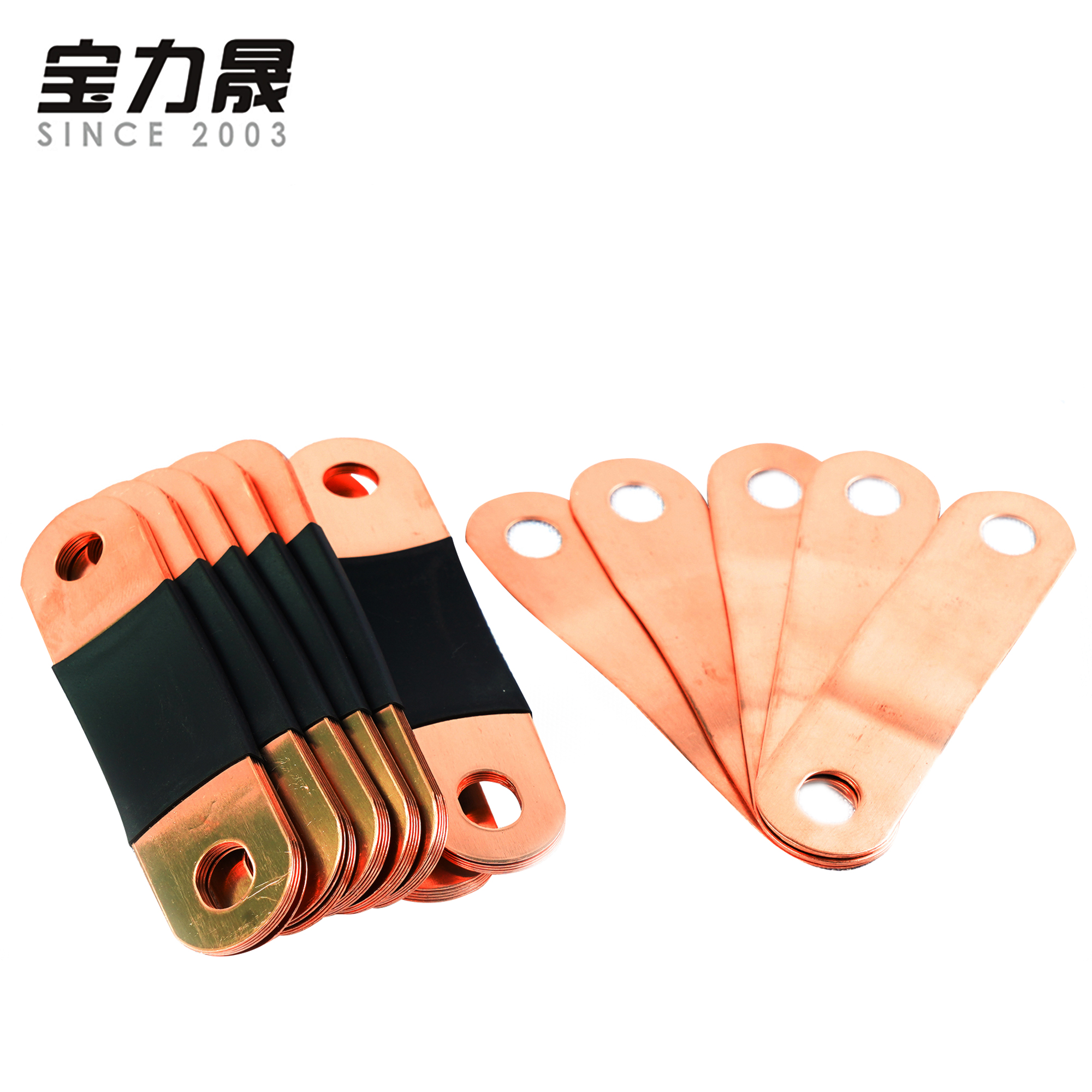 7PCS copper BusBars for CALB CATL 3.2V <font><b>lifepo4</b></font> battery packs <font><b>12V</b></font> 24V 36V 48V 80ah 100AH 120AH <font><b>150AH</b></font> 180AH 200AH 280AH 300AH image
