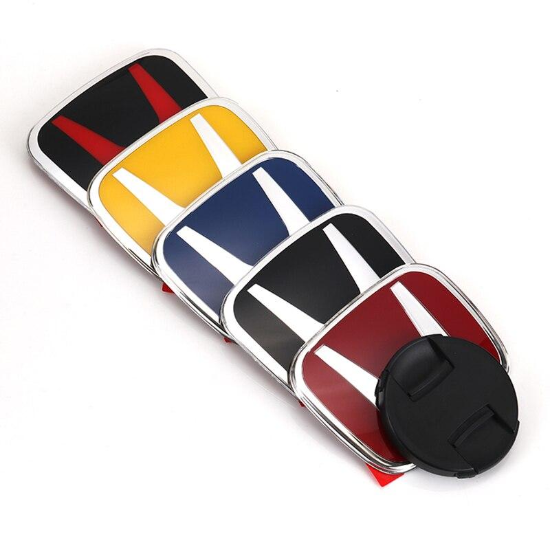 Эмблема из ПММА с логотипом 3D H, 1 шт., наклейки на багажник передней решетки автомобиля, аксессуары для Honda Civic Accord Fit Jazz City CRV HRV