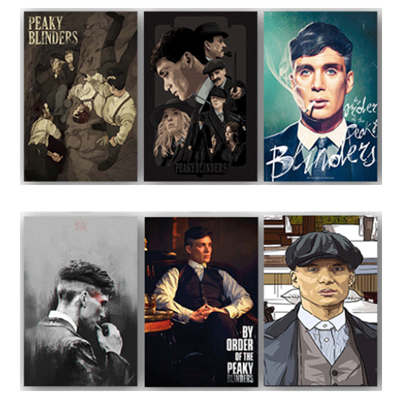 Peaky Blinders Movie Wall  Art Silk Posters Print Painting Modern Wall Picture Home Decor Bedroom Decorative Posters No Frame