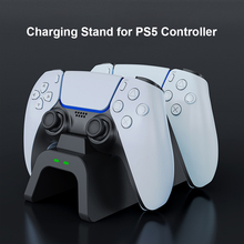 Aolion Dual Wireless Controllers Fast Charger Dock for Sony PS5 Type C Gamepad Joystick Power Base Station Desktop Charging