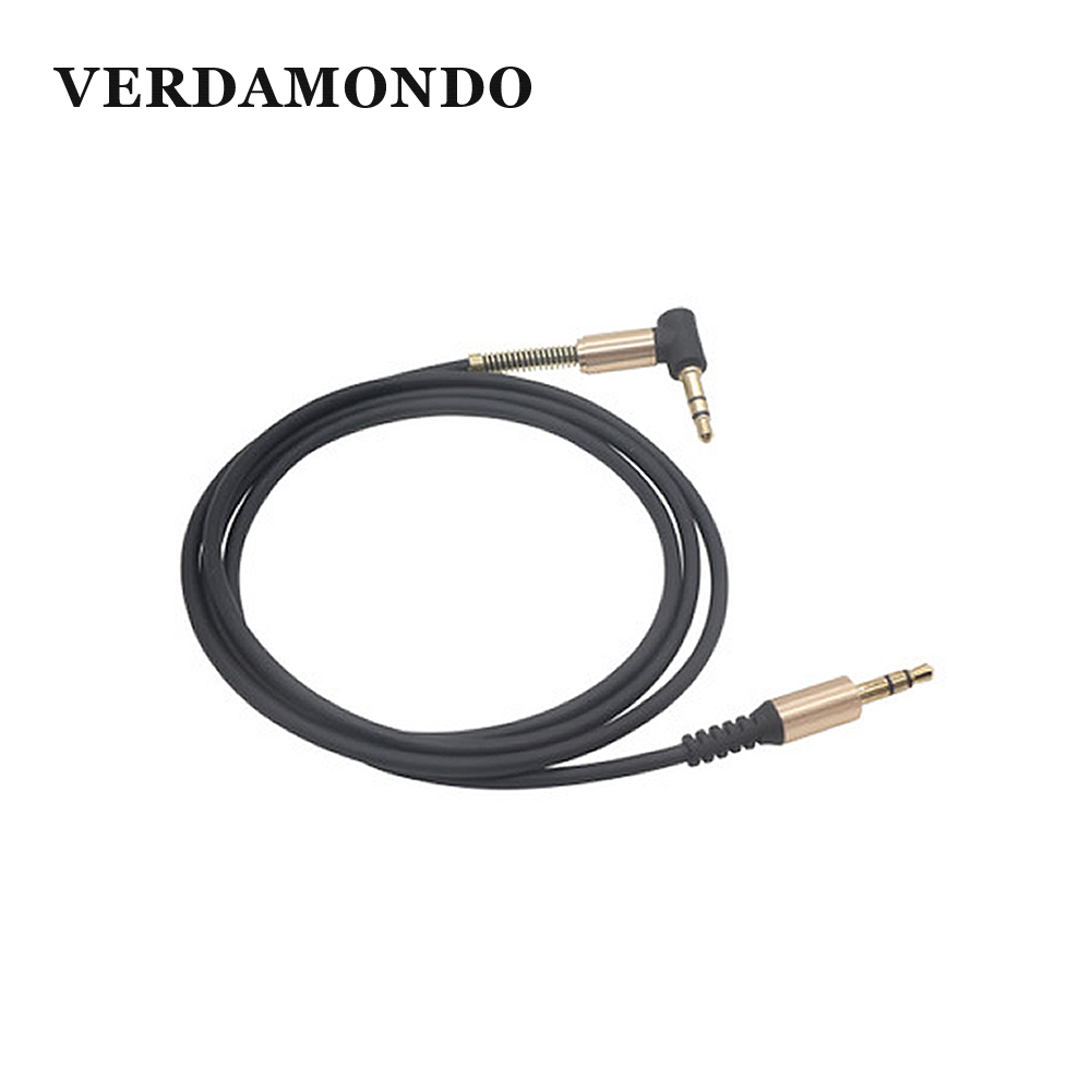 3.5MM Male-Male Audio Cable AUX Cable Earphone Speaker Phone Car Stereo AUX Cord Elbow Spring Telescopic Audio Cable