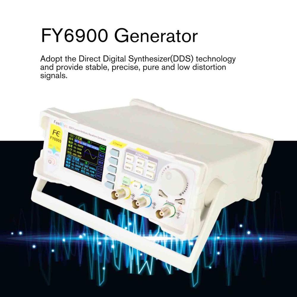 Двухканальный цифровой генератор сигналов произвольной формы DDS, 250 Мвыб/с, 60 МГц, 14 бит, измеритель частоты