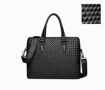 2019 Brand Woven Handbags leather braided men's bag hand-held men's briefcase computer bag business shoulder oblique span bag