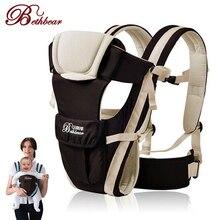 Frente respirável frente enfrentando portador de bebê beth urso 0 30 meses 4 em 1 infantil confortável estilingue mochila bolsa envoltório bebê canguru novo