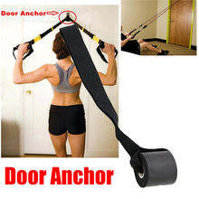 Foam Door Anchor Resistance Exercise Bands Muscle Building Strength Training Ankle Straps Workout Bodybuilding Gym Safety(China)