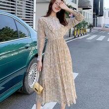 Женское цельнокроеное платье в Корейском стиле весна осень элегантное