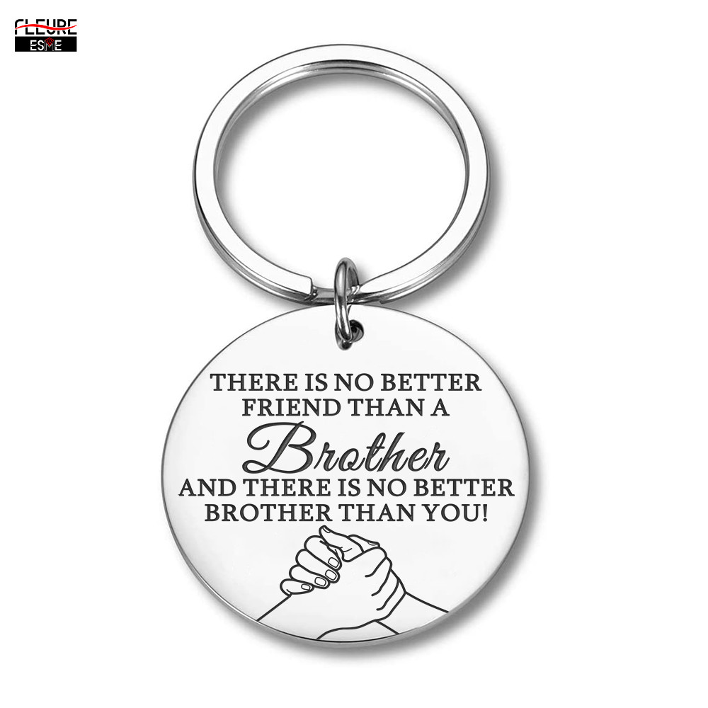 Brother Keychain Gift for Brother Friend BFF Key Chain Big Brother Gifts for Men Little Brother Birthday Gifts Key Ring