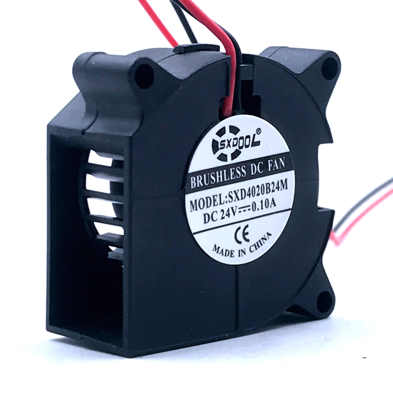 2PCS SXDOOL 3D Printer <font><b>Fan</b></font> 40mm 4020 Turbo Blower 24V 12V <font><b>5V</b></font> sleeve Bearing Cooling <font><b>Fan</b></font> 40mm x 40mm x <font><b>20mm</b></font> for 3D Printer Parts image