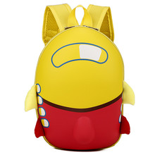 2019 3D cute aircraft design eggshell shape hard backpack children's school bag girl boy cartoon-shaped children's backpack(China)